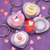 Personalized Heart Shaped Lip Balm Key Chain Favors