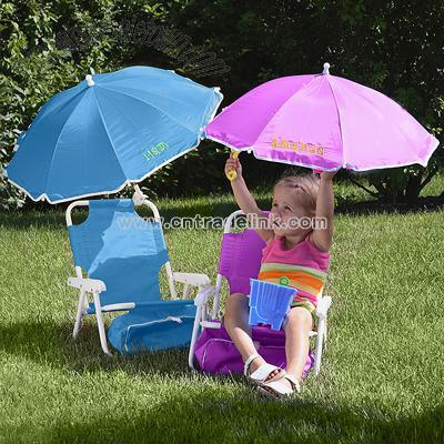 Leather Reclining Chairs Beach Chair Kids Attached Umbrella