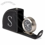Personalized Leather Travel Alarm Clock