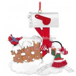Personalized Mailbox With Snowman Ornament