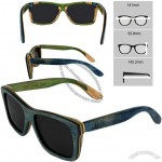 Personalized Maple Skateboard Wood Sunglasses