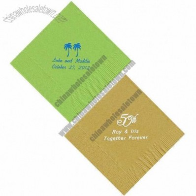 Personalized Napkins, Suitable For Wedding, Birthday And Restaurant