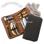 Personalized Nappa Leather Travel and Grooming Kit