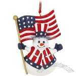Personalized Patriotic Snowman Ornament