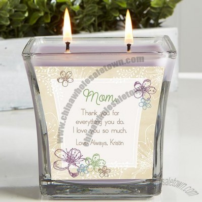 Personalized Scented Glass Candle