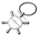 Personalized Ship's Wheel Key Chain