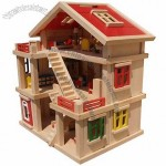 Personalized Wooden Doll House