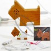 Pet Dog Shaped Wooden Mini Speaker