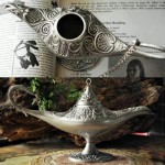 Pewter Classical Aladdin Lamp