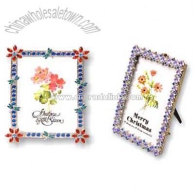 Pewter Photo Frame with Gemstone