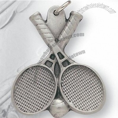 Pewter Tennis Key Chain / Keychain