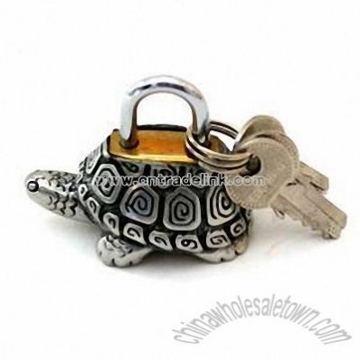 Pewter Turtle Mini Lock