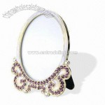 Pewter/Zinc Alloy Mirror-shaped Photo Frame