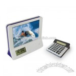 Photo Frame Calculator with LCD Calendar and Alarm Cloack