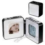 Photo frame and alarm clock