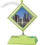 Photo frame with FM scan radio and mirror