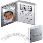 Photo frame with digital alarm clock