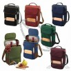 Picnic Time Duet Insulated Wine & Cheese Tote - Hunter Green w/Black Trim