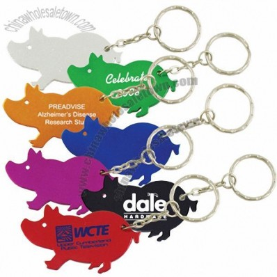 Pig Bottle Opener Keychain