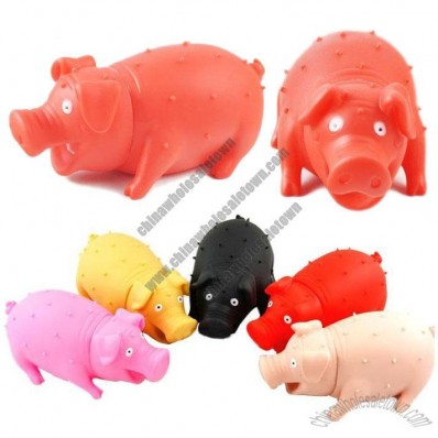 Pig Stress Reliever Squeeze Pig Toy with Realistic Sound Effect