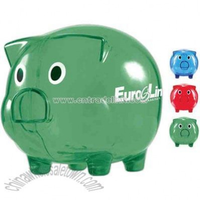 Piggy Shaped Translucent Bank
