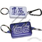 Pill Box Key Ring with Carabiner or Keychain