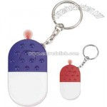 Pill capsule shape whistle key light