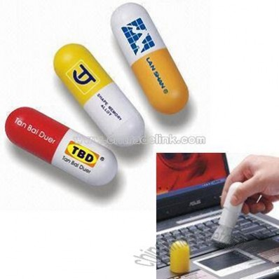 Pill-shaped Plastic Promotional Cleaning Dusters