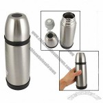 Pine Print Silver Tone Insulated Stainless Steel Vacuum Flask 300mL