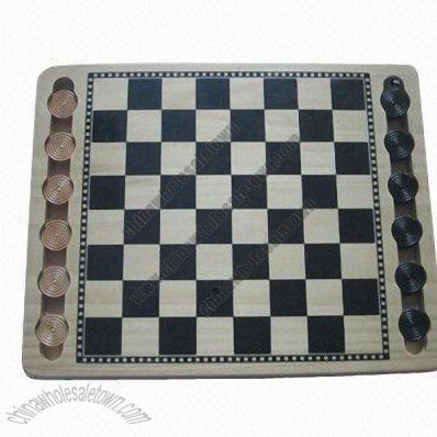 Pine chess board game, eco-friendly