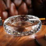 Pineapple Pattern Round Crystal Ashtray