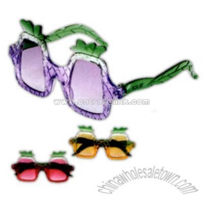 Pineapple shape plastic kids sunglasses with UV protection