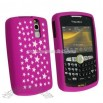 Pink/ White Star Silicone Case for Blackberry Curve 8350i