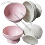 Pink Ceramic Ice Cream Cup