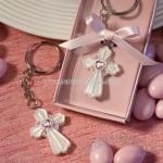 Pink Cross Key Chain Favors