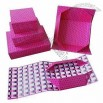 Pink Flat Folding Gift Box With Matte Lamination And UV