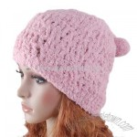 Pink Hat Hand knit Crochet Beanie Girl