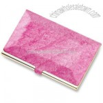 Pink Marbleized Business Card Case