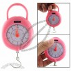 Pink Plastic 5Kg Weight Hanging Sacle Silvery Hook