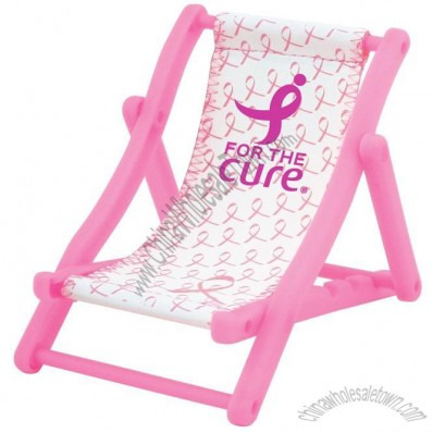 Pink Ribbon Beach Chair Cell Phone Holder