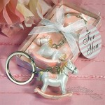 Pink Rocking Horse Keychain Favors