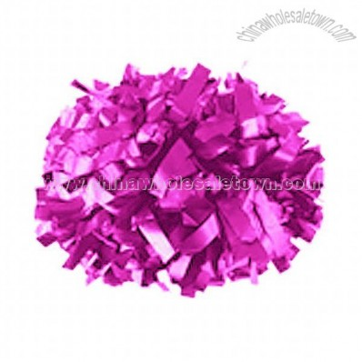 Pink Solid Plastic Cheerleaders Poms