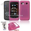 Pink Transparent Silicone Skin Cover Case Cell Phone Protector for LG Xenon GR500