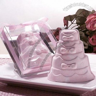 Pink Wedding Cake Bath Fizzer Favors