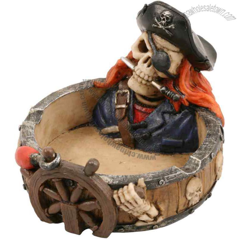Skull Hats Wholesale Pirate Skull With Hat Ashtray