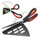 Pizza Scissors for Rubber Handle with Stainless Steel Bald and Tray