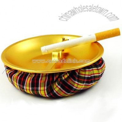 Plaid Sand Bag Ash Tray
