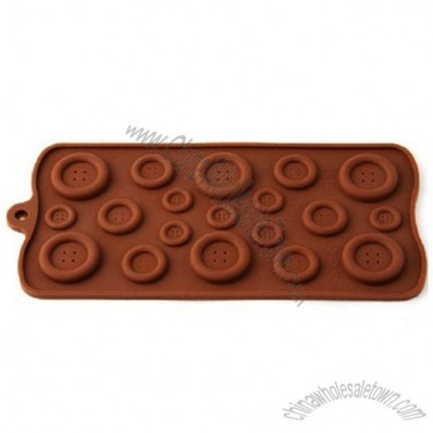 Plain Buttons Donuts Silicone Bakeware Mould