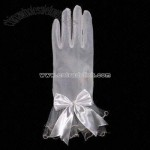 Plain Dye Wedding Dress Glove