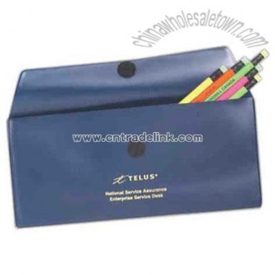 Plain vinyl envelope style document holder with velcro closure